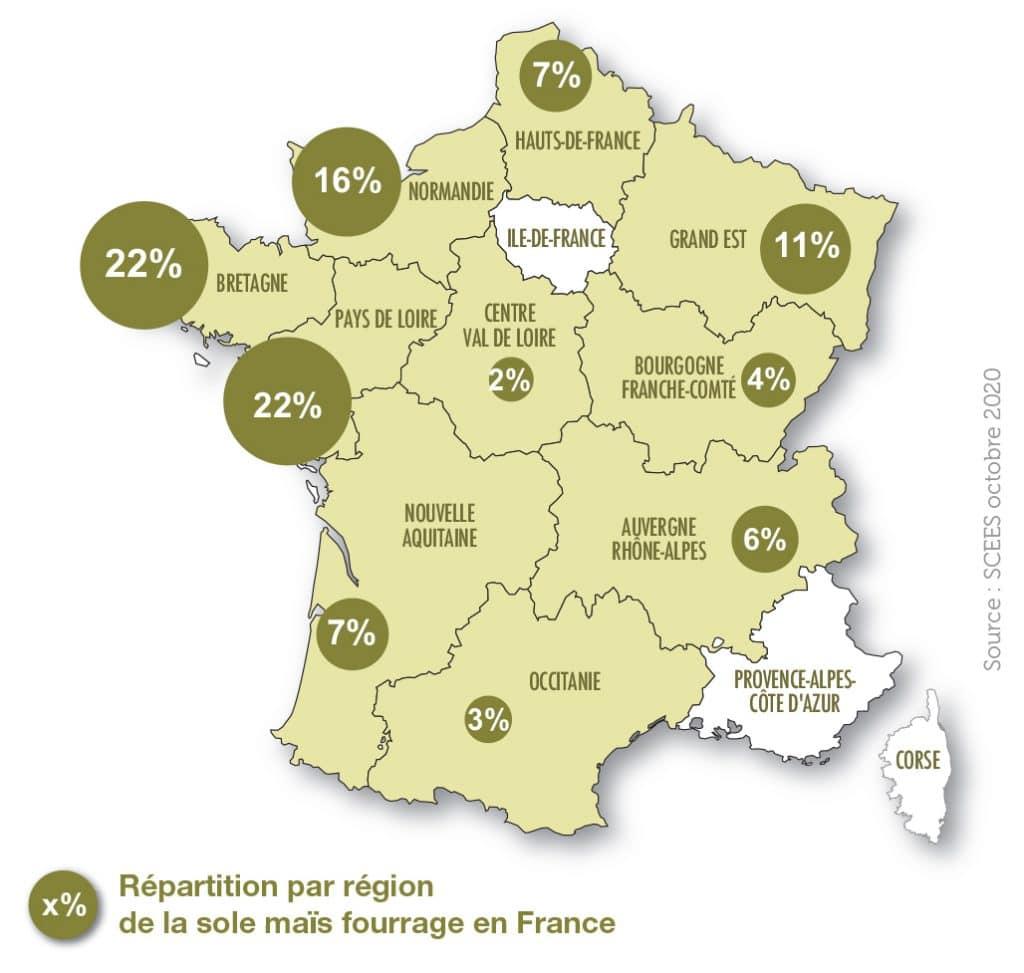 Production maïs fourrage en france 2020