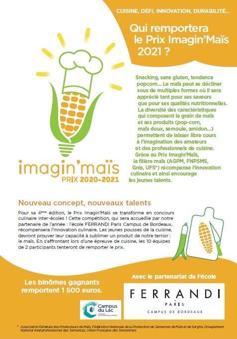 Brochure de présentation du prix Imagin'Maïs 2020-2021