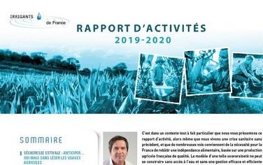 rapport activités irrigants de france 2020
