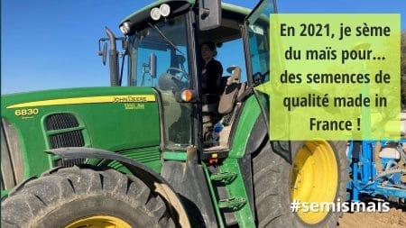 semis de maïs 2021 Céline Imart