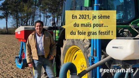 visuels semis de maïs 2021 avec Eric Frétillère