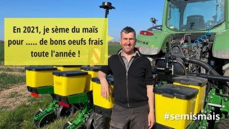 visuel semis de maïs 2021 avec Sébastien Méry