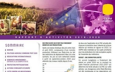 couverture du apprt d'activités de la CEPM 2020