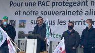 Daniel Peyraube à la manifestation de Strasbourg